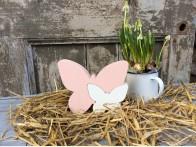Vlinder Elyse Roze Wit