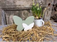 Vlinder Elyse wit groen
