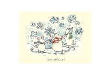 Kerstkaart Snowflakes
