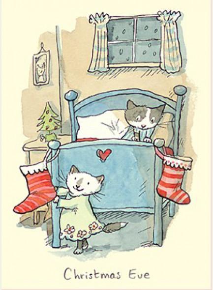 Kerstkaart Christmas Eve