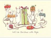 Kerstkaart Christmas with Style