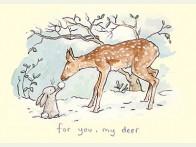 Kerstkaart For you my deer