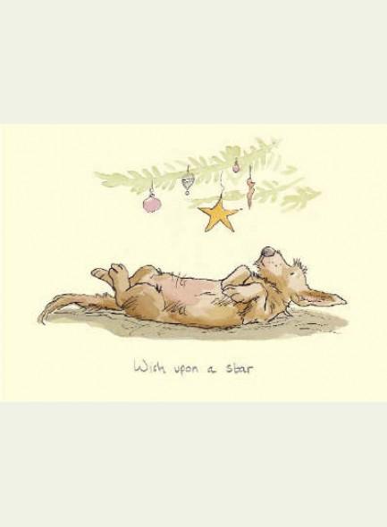 Kerstkaart Wish upon a star