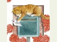 Floris Poes op brievenbus 3D
