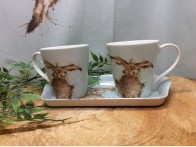 Wrendale Designs Hare Mug and Tray set