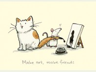 Two Bad Mice make Art, make Friends kaart