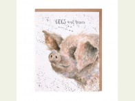 Wrendale Designs kaart Hogs and kisses