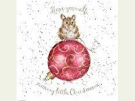 Wrendale Designs Kerstkaart  a Merry little Christmouse